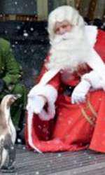 Moș Crăciun și pinguinii lui au deschis raionul de Crăciun de la Harrods pe 4 august 2009.
