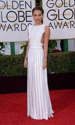 Alicia Vikander - Rochie Louis Vuitton (Globurile de Aur)