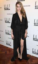 Mandatory Credit: Photo by Matt Baron/BEImages (1924228q) Cara Delevingne Elle Style Awards, London, Britain - 18 Feb 2014