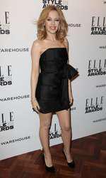 Mandatory Credit: Photo by Matt Baron/BEImages (1924228dp) Kylie Minogue Elle Style Awards, London, Britain - 18 Feb 2014