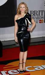 Mandatory Credit: Photo by Matt Baron/BEImages (1924351eq) Kylie Minogue The Brit Awards, Arrivals, O2 Arena, London, Britain - 19 Feb 2014