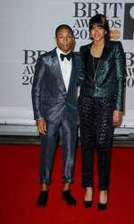 Pharrell Williams attends the BRIT Awards 2014 - 19 February 2014. FAMOUS PICTURES AND FEATURES AGENCY 13 HARWOOD ROAD LONDON SW6 4QP UNITED KINGDOM tel +44 (0) 20 7731 9333 fax +44 (0) 20 7731 9330 e-mail info@famous.uk.com www.famous.uk.com JMVM10090