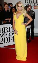 Mandatory Credit: Photo by Matt Baron/BEImages (1924351ie) Rita Ora The Brit Awards, Arrivals, O2 Arena, London, Britain - 19 Feb 2014