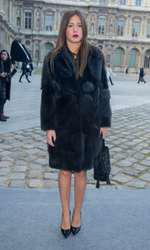 "Adèle Exarchopoulos - No Web No Blog - No Tabloids - People au défilé de mode, collection prêt-à-porter automne-hiver 2014/2015, ""Louis Vuitton"" à Paris le 5 mars 2014 . (no web - online pour suisse et Belgique) - People at Louis Vuitton fashion show F/W ready-to-wear 2014/2015 in Paris, France on march 5th 2014."