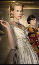 "Betty Francis (January Jones), Peggy Olson (Elisabeth Moss) si Joan Harris (Christina Hendricks) in ""Mad Men"""