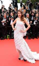 Laetitia Casta arriving on the red carpet of Grace De Monaco screening and opening ceremony held at the Palais Des Festivals in Cannes, France on May 14, 2014 as part of the 67th Cannes Film Festival. Photo by Nicolas Briquet/ABACAPRESS.COM