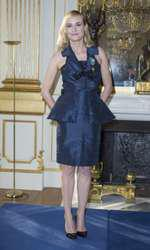 Diane Kruger - Remise de la médaille des Arts et des Lettres à Diane Kruger au ministère de la Culture à Paris le 22 septembre 2014. Diane Kruger receives the Letters and Art