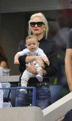 Singer Gwen Stefani with her son Appolo attends the match between Roger Federer and Marin Cilic on day 13 of the 2014 US Open at the USTA Billie Jean King National Tennis Center on September 6, 2014 in New York City, NY, USA. Photo by Corinne Dubreuil/ABACAPRESS.COM