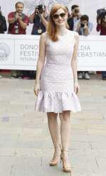 Jessica Chastain intr-o rochie Michel Kors la Festivalul de film de la San Sebastian