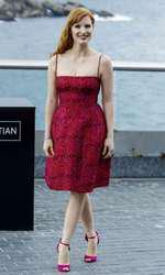 Jessica Chastain attends the Disappeareance of Eleanor Rigby photocall at the Aquearium during the 62nd San Sebastian Film Festival in San Sebastian, Spain on September 23, 2014. Photo by Archie Andrews/ABACAPRESS.COM