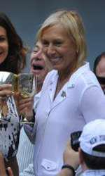 Tennis player Martina Navratilova asked her girlfriend Julia Lemigova to marry her today on day 13 of the 2014 US Open at the USTA Billie Jean King National Tennis Center on September 6, 2014 in New York City, NY, USA. Photo by Corinne Dubreuil/ABACAPRESS.COM