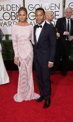 Mandatory Credit: Photo by Jim Smeal/BEImages (2616893p) Chrissy Teigen and John Legend 72nd Annual Golden Globe Awards, Arrivals, Los Angeles, America â?? 11 Jan 2015