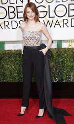Mandatory Credit: Photo by Jim Smeal/BEImages (2616893de) Emma Stone 72nd Annual Golden Globe Awards, Arrivals, Los Angeles, America â?? 11 Jan 2015