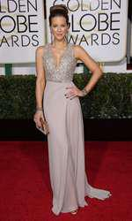 Mandatory Credit: Photo by Jim Smeal/BEImages (2616893bo) Kate Beckinsale 72nd Annual Golden Globe Awards, Arrivals, Los Angeles, America â?? 11 Jan 2015