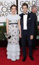 Mandatory Credit: Photo by Jim Smeal/BEImages (2616893by) Keira Knightley and James Righton 72nd Annual Golden Globe Awards, Arrivals, Los Angeles, America â?? 11 Jan 2015