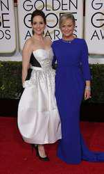 Mandatory Credit: Photo by Jim Smeal/BEImages (2616893aw) Tina Fey and Amy Poehler 72nd Annual Golden Globe Awards, Arrivals, Los Angeles, America â?? 11 Jan 2015