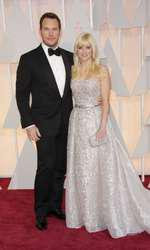 Mandatory Credit: Photo by Jim Smeal/BEImages (2661278dt) Chris Pratt and Anna Faris 87th Academy Awards, Oscars, Arrivals, Los Angeles, America - 22 Feb 2015