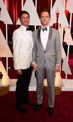 Neil Patrick Harris and David Burtka (left) arriving at the 87th Academy Awards held at the Dolby Theatre in Hollywood, Los Angeles, CA, USA, February 22, 2015.   February 22, 2015 academy awards
