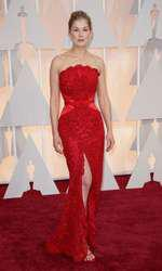 Mandatory Credit: Photo by Jim Smeal/BEImages (2661278bx) Rosamund Pike 87th Academy Awards, Oscars, Arrivals, Los Angeles, America - 22 Feb 2015