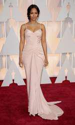 Mandatory Credit: Photo by Jim Smeal/BEImages (2661278ck) Zoe Saldana 87th Academy Awards, Oscars, Arrivals, Los Angeles, America - 22 Feb 2015