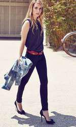 Actress Emma Roberts is the face of Levis fall winter new campaign  © DJ/ Target Press - 25/09/2014 *Hands out pics*