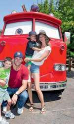 Gisele Bündchen împreună cu soțul ei, Tom Brady, și cu cei doi băieți, Benjamin și John