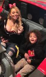 Mariah Carey si cei doi copii ai ei