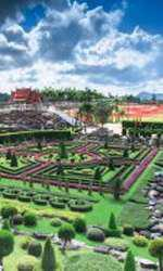 Pavilionul în stil Thai și grădina tropicală din Nong Nooch, Pattaya, Thailanda