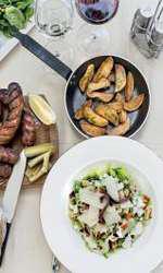 Platou Grill și Salată de baby spanac cu semințe de in