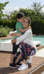Adina Halas si fiul ei, Seghei