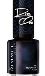 Lac de unghii, Rimmel London, 60 Seconds, colecția Shades of Black by Rita Ora, nuanța 902 Moonligh Magic, 8,7 lei