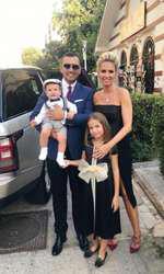 Andreea Bănică, Lucian Mitrea și copiii Sofia și Noah
