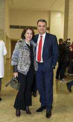 Lucian Mândruță și soția sa, Ioana
