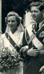 Regele Mihai și Regina Ana la nuntă, în 1948