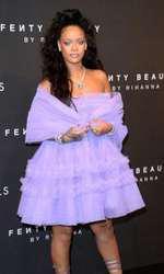 Rihanna - outfit Molly Goddard, lansarea Fenty Beauty by Rihanna