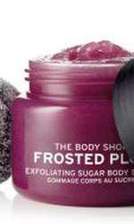 Exfoliant pentru corp, The Body Shop, Body Scrub Frosted Plum, 97 lei