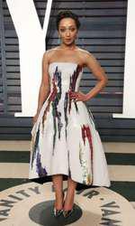 Ruth Negga - outfit Oscar de la Renta, Vanity Fair Oscar Party