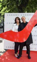 Carmen Seitan (Casadei Boutique) si Cesare Casadei