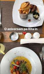 Rita, fetiţa Laurei Cosoi şi a lui Cosmin Curticăpean, a împlinit o lună