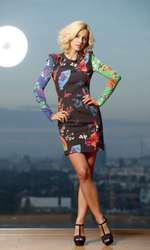 """Dana în 2011, pe când era încă blondă. Vedeta și-a deschis părul  prima dată în 2009, pentru rolul din """"State de România"""""""