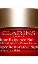 Cremă de noapte pentru ten foarte uscat, Clarins, Super Restorative Night, 457 lei
