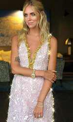 Chiara în rochia Prada purtată la cina dinainte de nuntă