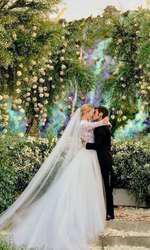 Chiara Ferragni și Fedez. Mireasa a purtat o rochie Dior custom-made de la ceremonia religioasă.