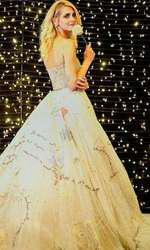 Chiara în rochia Dior pregătită pentru recepția de după nuntă