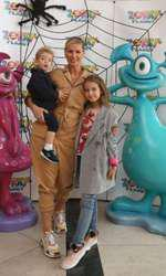 Andreea Bănică și copiii săi, Sofia și Noah