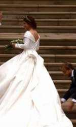 Primele imagini cu rochia de mireasă a Prințesei Eugenie.