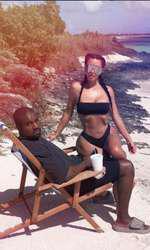 Kim și soțul ei, Kanye West, în vacanță