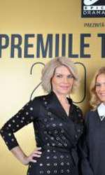 Andreea Marinescu și Lavinia Petrea la Premiile TVmania 2018