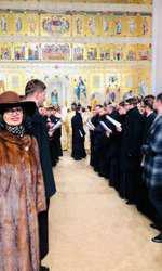 Ozana Barabancea la slujba de sfințire a Catedralei Mântuirii Neamului