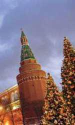 Kremlinul decorat de sărbătoare